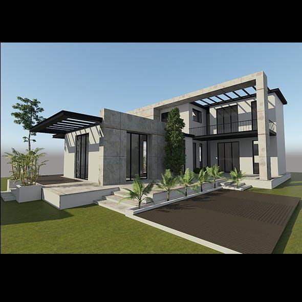 modern villa exterior - 3DOcean Item for Sale