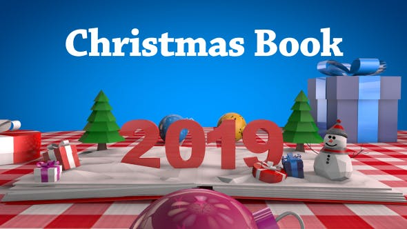 Christmas Book - 3DOcean Item for Sale