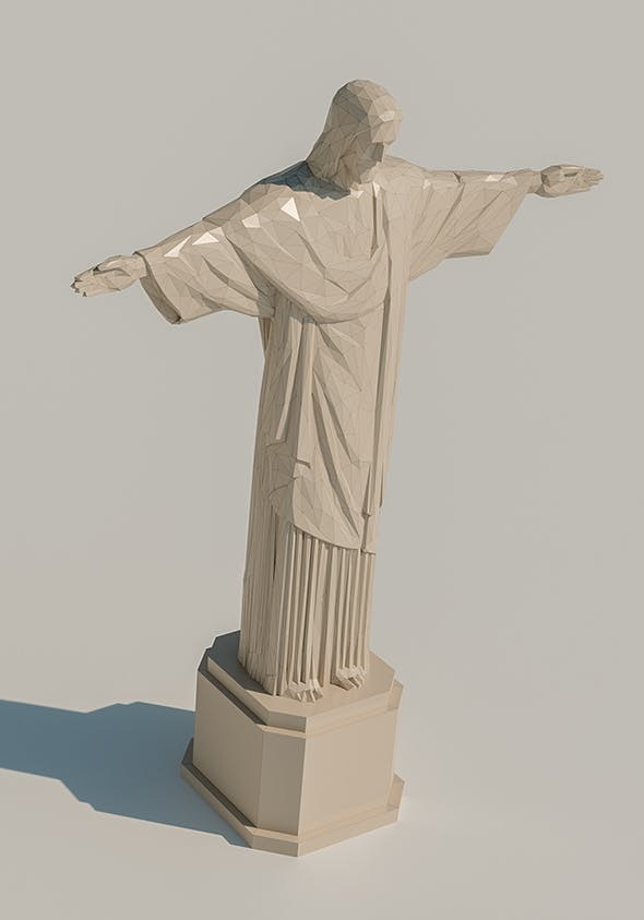 Lowpoly Christ the Redeemer - 3DOcean Item for Sale