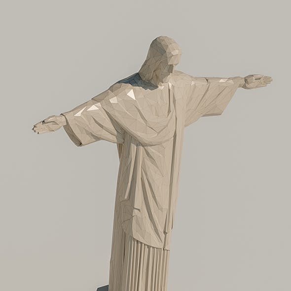 Lowpoly Christ the Redeemer
