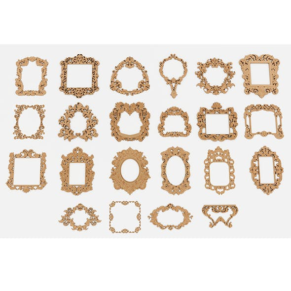 Frames for mirrors and paintings 22 pieces Set-2 - 3DOcean Item for Sale