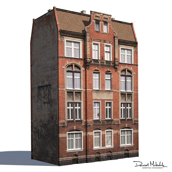 Apartment House #192 Low Poly 3d Model - 3DOcean Item for Sale