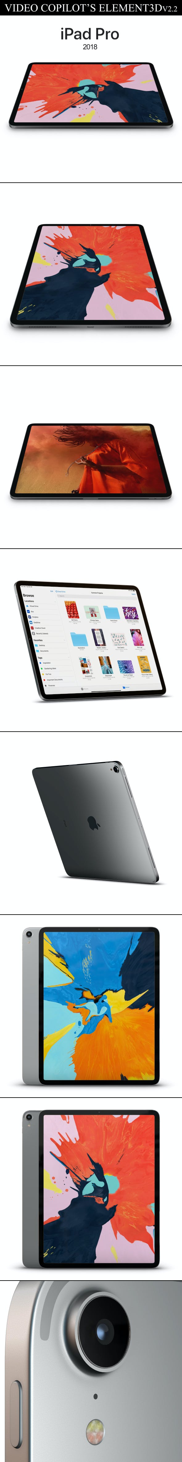Element3D – iPad Pro 2018 - 3DOcean Item for Sale