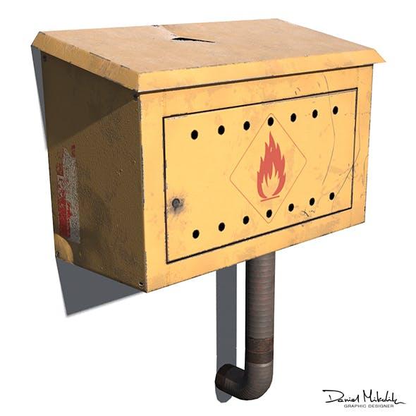 Gas Box PBR 3d Model - 3DOcean Item for Sale