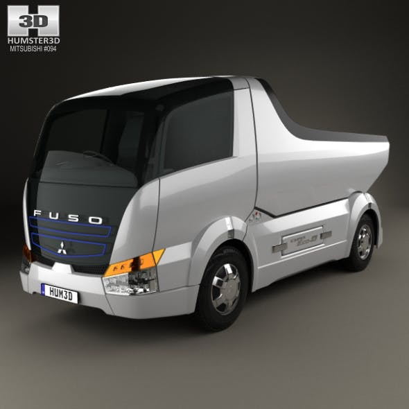 Mitsubishi Fuso Canter Eco D Hybrid Truck 2007 - 3DOcean Item for Sale