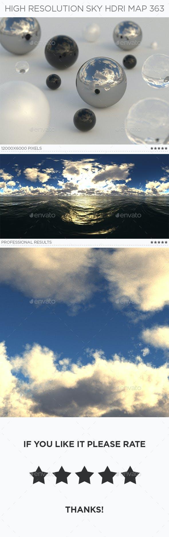 High Resolution Sky HDRi Map 363 - 3DOcean Item for Sale