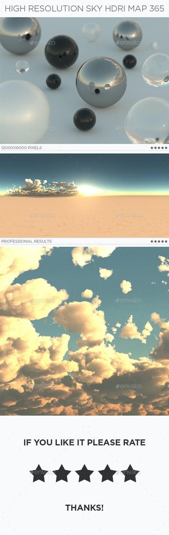 High Resolution Sky HDRi Map 365 - 3DOcean Item for Sale