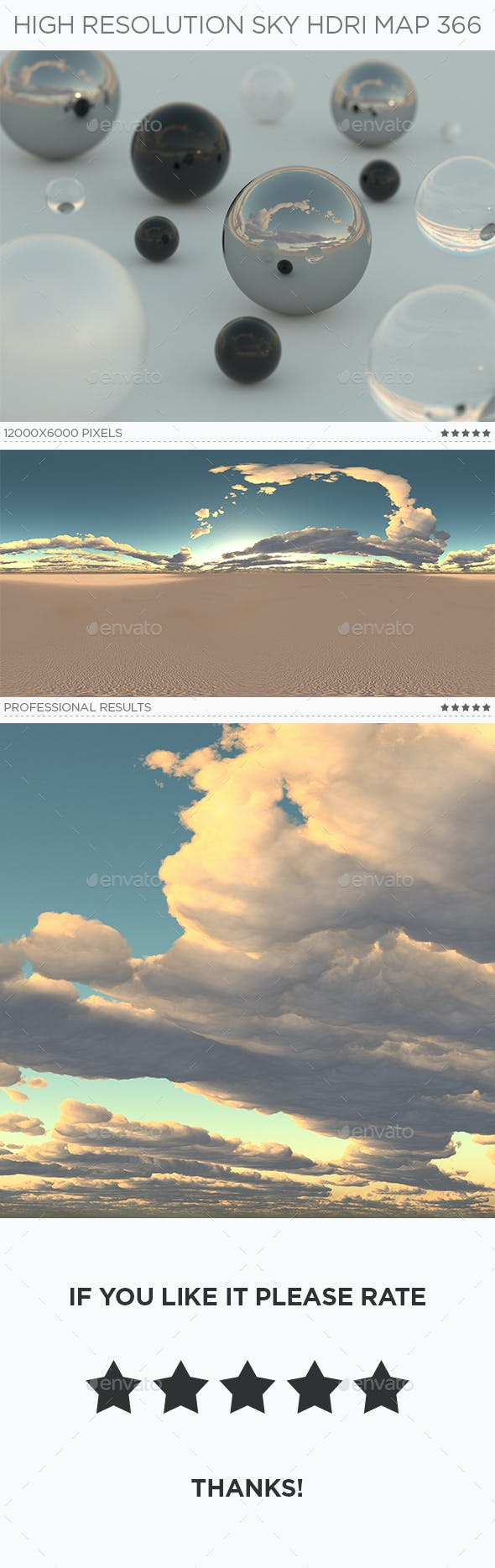 High Resolution Sky HDRi Map 366 - 3DOcean Item for Sale