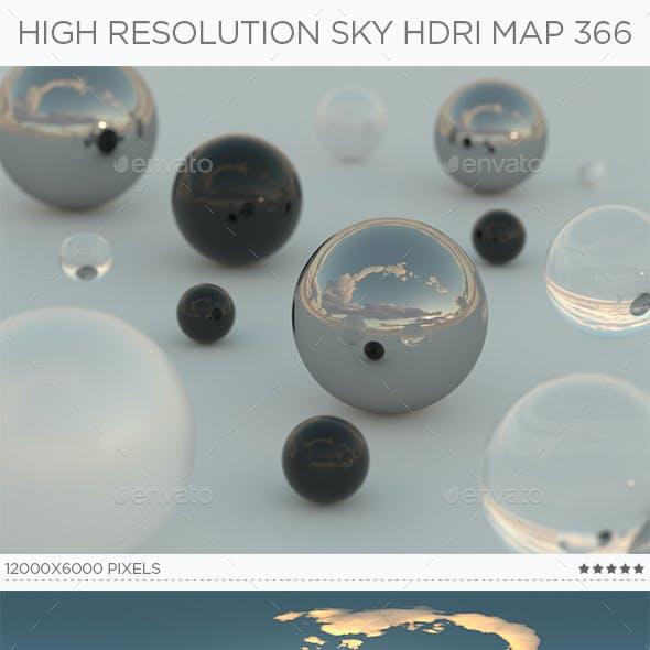 High Resolution Sky HDRi Map 366
