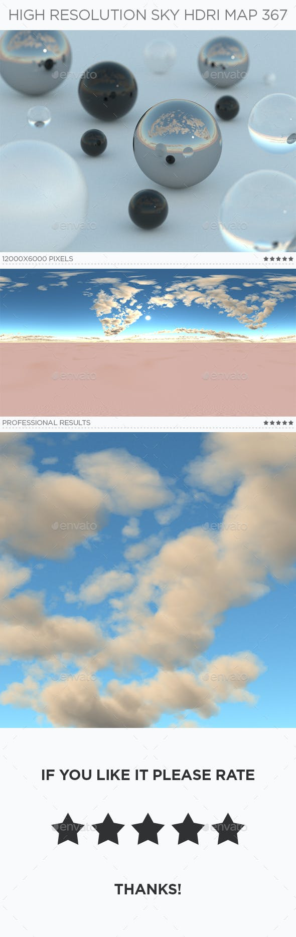 High Resolution Sky HDRi Map 367 - 3DOcean Item for Sale