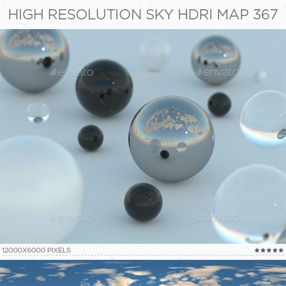 High Resolution Sky HDRi Map 367