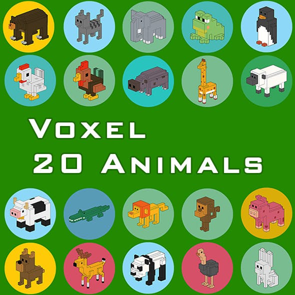 Voxel Animals