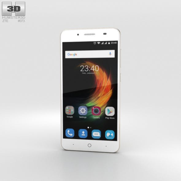 ZTE Blade A2 Plus Gold - 3DOcean Item for Sale