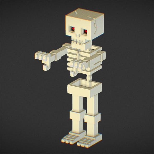 Voxel Skeleton - 3DOcean Item for Sale