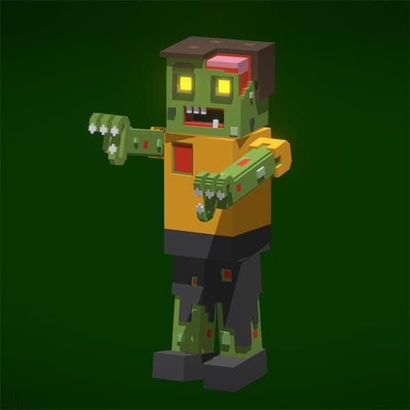 Voxel Zombie - 3DOcean Item for Sale