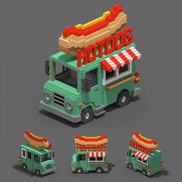 Voxel HotDog Van - 3DOcean Item for Sale