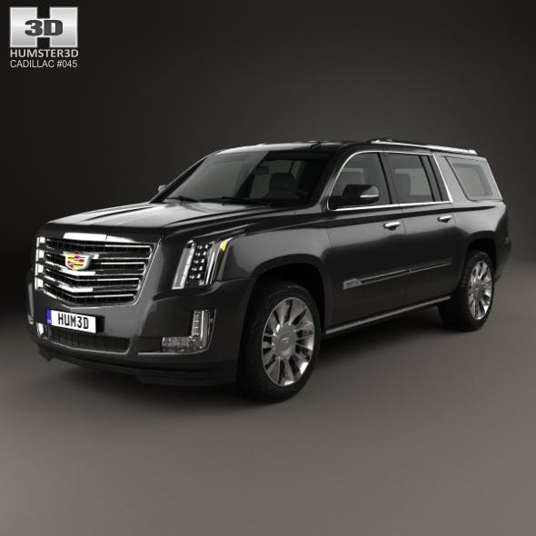 Cadillac Escalade ESV Platinum (EU) 2015 - 3DOcean Item for Sale