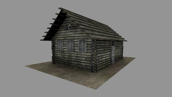 Russian old log house - 3DOcean Item for Sale