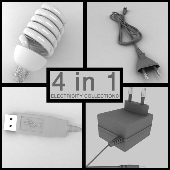 Electricity Collection - 3DOcean Item for Sale