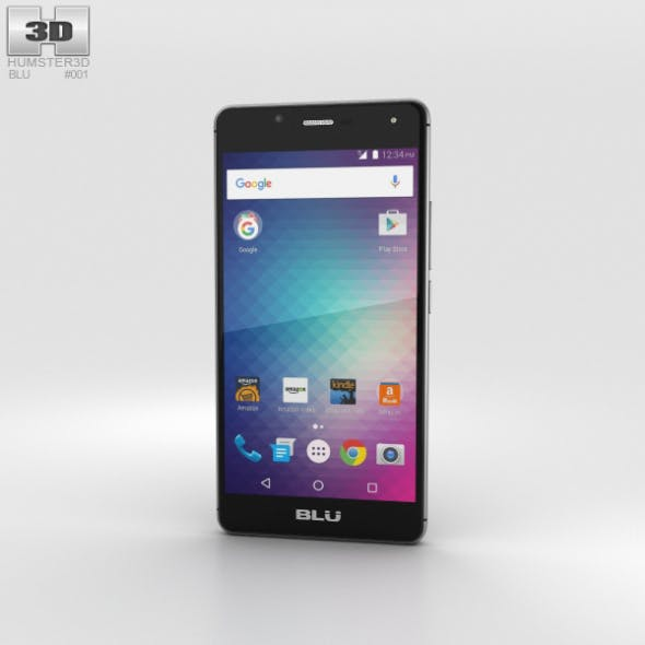 BLU R1 HD Midnight Black - 3DOcean Item for Sale