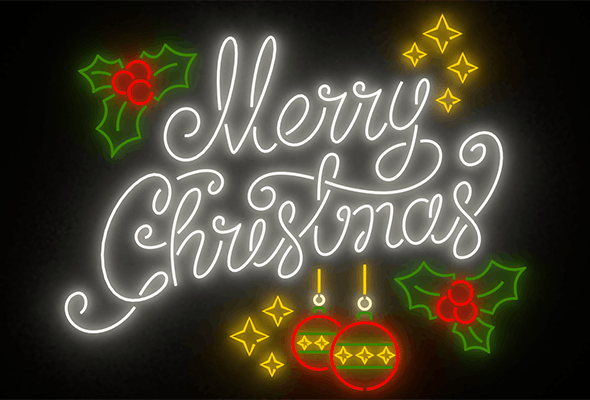 Merry Christmas led typo decoration - 3DOcean Item for Sale