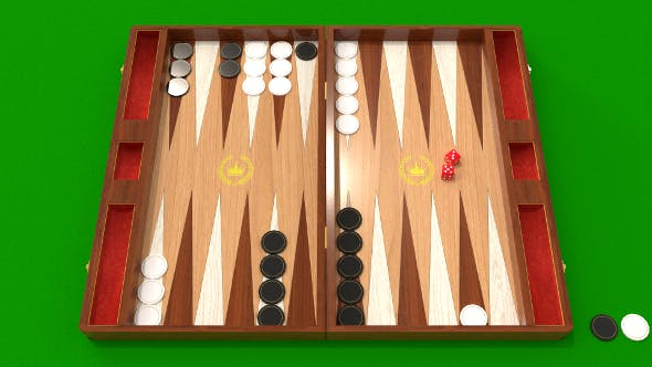 Backgammon low and high poly 3d model - 3DOcean Item for Sale