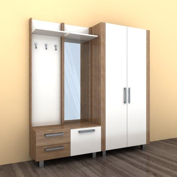 Hallway furniture 02 - 3DOcean Item for Sale