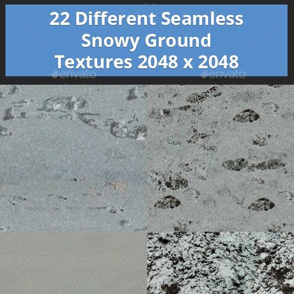 22 Seamless Snowy Ground Textures