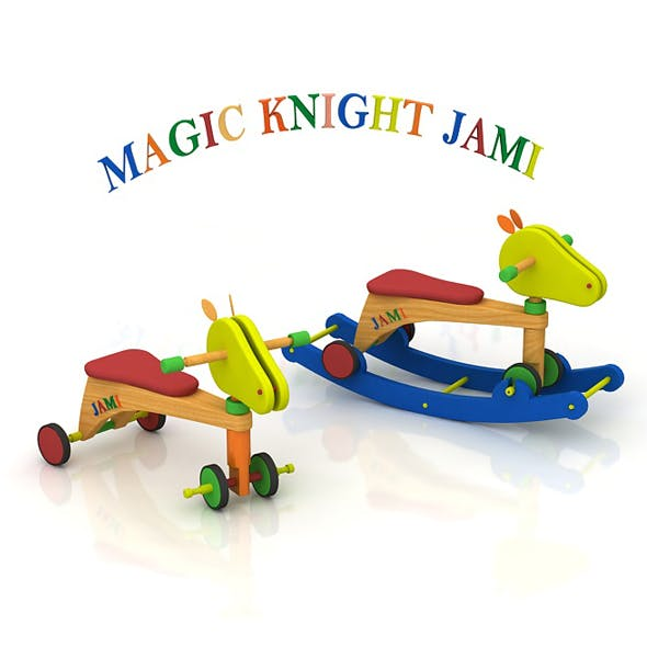 Sustainable multi-functional wooden toy for little children age from 8 months to 4 years old. - 3DOcean Item for Sale