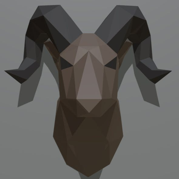 ram figure low poly - 3DOcean Item for Sale