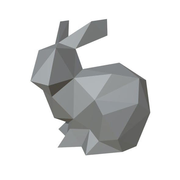 hare figure low poly
