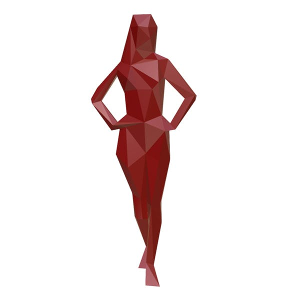 girl figure low poly