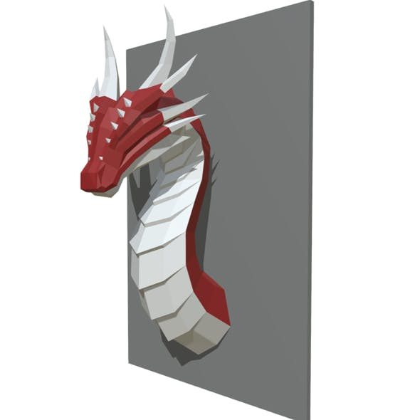 dragon figure low poly