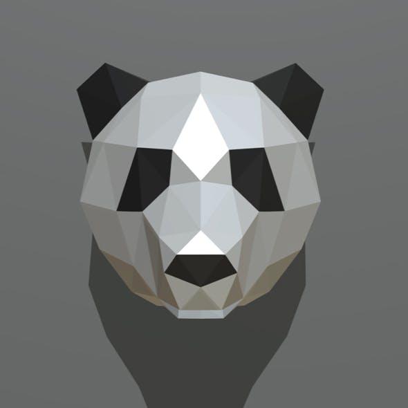 panda figure 2 low poly - 3DOcean Item for Sale