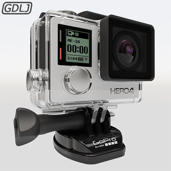 GoPro HERO4 Silver [ 3D Model ] - 3DOcean Item for Sale
