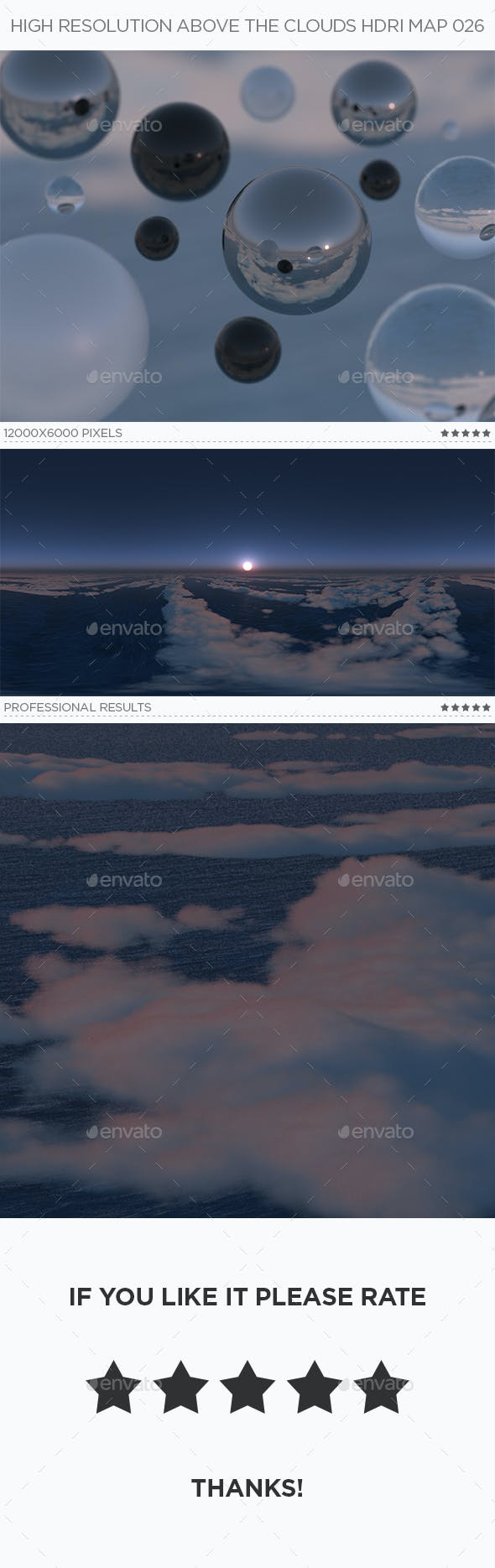 High Resolution Above The Clouds HDRi Map 026 - 3DOcean Item for Sale