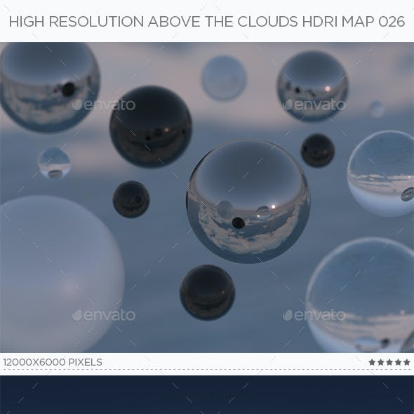 High Resolution Above The Clouds HDRi Map 026