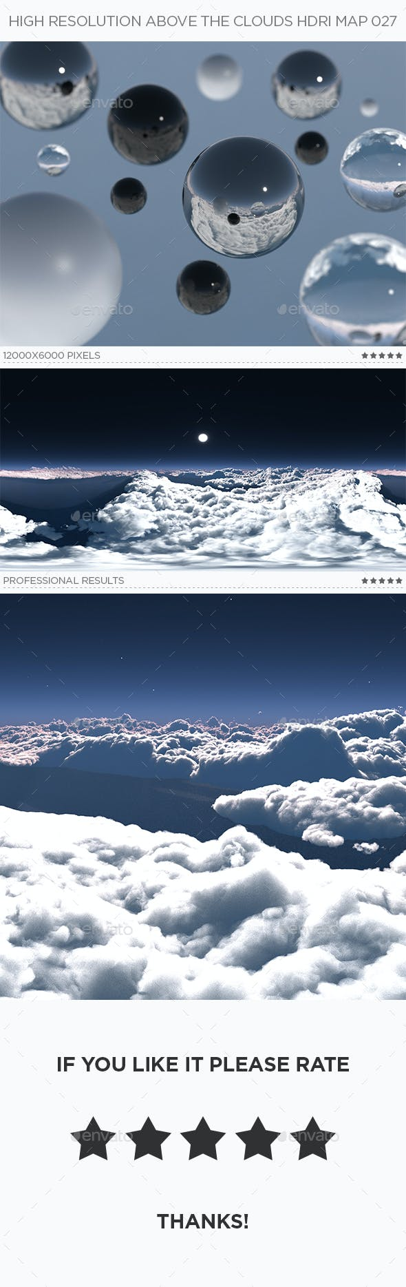 High Resolution Above The Clouds HDRi Map 027 - 3DOcean Item for Sale