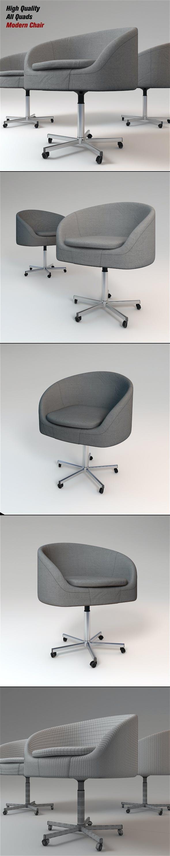 Modern Chair - Armchair - 3DOcean Item for Sale