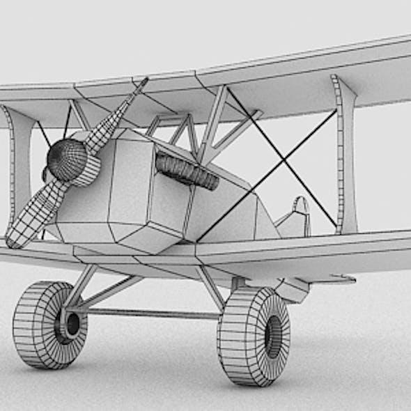 Toy Stylized Biplane