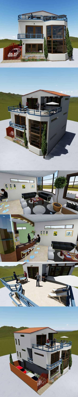 modern house - 3DOcean Item for Sale