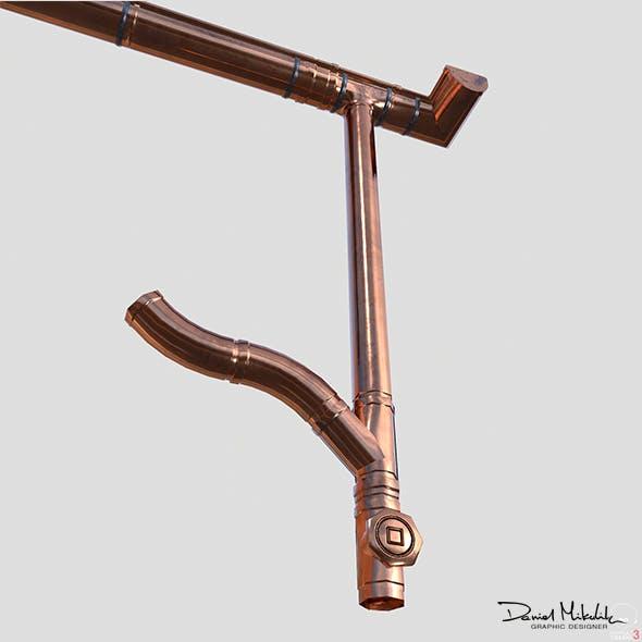 New Cooper Gutter System PBR - 3DOcean Item for Sale