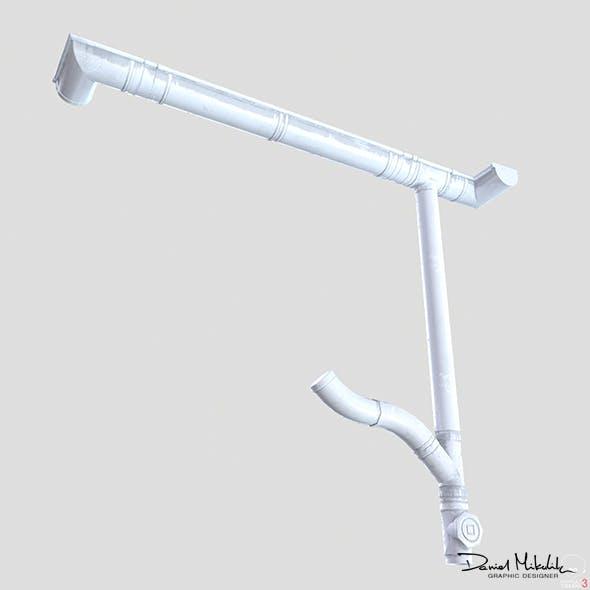 White Plastic Gutter System PBR