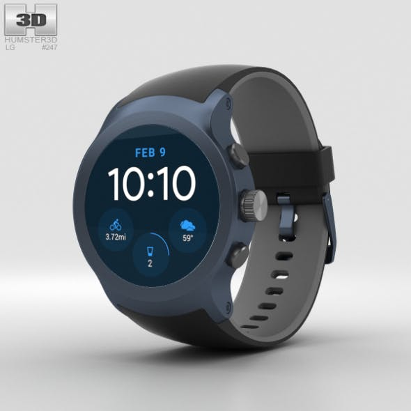 LG Watch Sport Dark Blue - 3DOcean Item for Sale