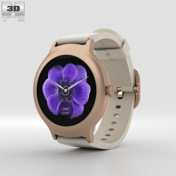 LG Watch Style Rose Gold - 3DOcean Item for Sale