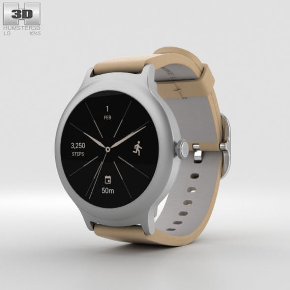 LG Watch Style Silver - 3DOcean Item for Sale