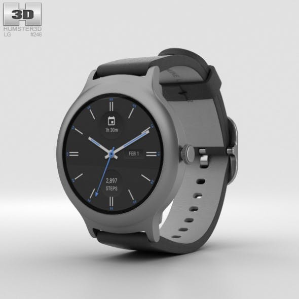 LG Watch Style Titanium - 3DOcean Item for Sale