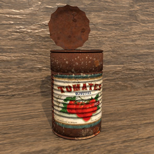 Old Rusty Tomato Can