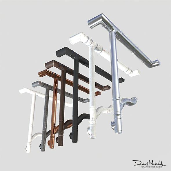 Gutter System Material PACK PBR - 3DOcean Item for Sale