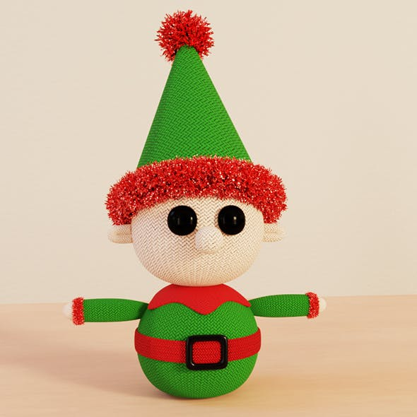 Knitted Elf Christmas Decoration